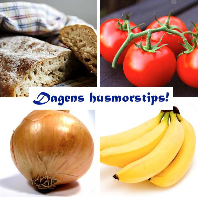 husmorstips förvara livsmedel i rumstemperatur