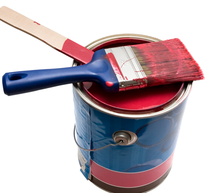 Red-Paint-can-and-Brush